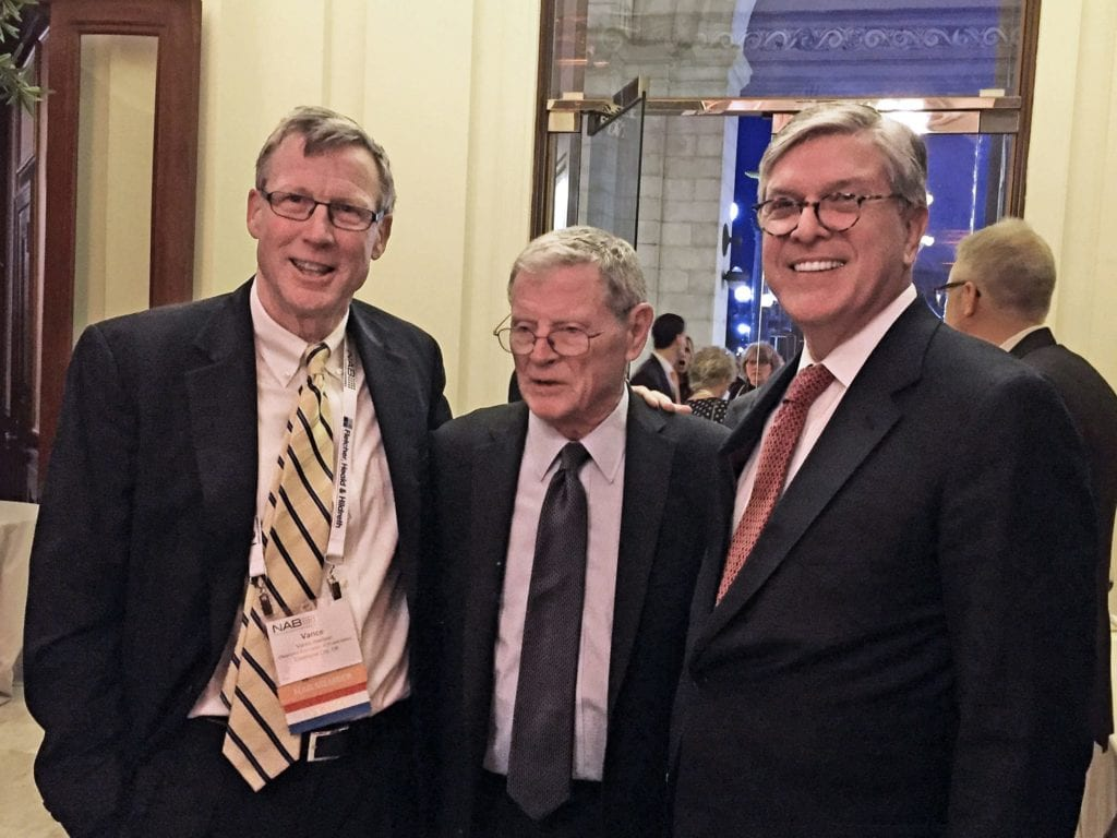 Vance Harrison, Senator Jim Inhofe, NAB President Gordon Smith